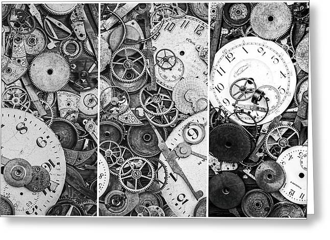 Clockworks Still Life Greeting Card by Tom Mc Nemar