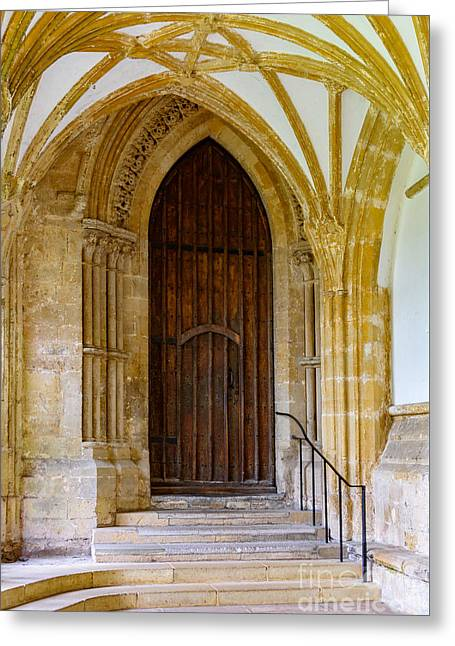 Cloisters, Wells Cathedral Greeting Card by Colin Rayner
