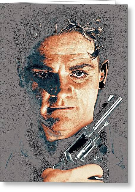 Close Up James Cagney As Gangster Rocky Sullivan In Angels With Dirty Faces 1938-2008 Greeting Card by David Lee Guss