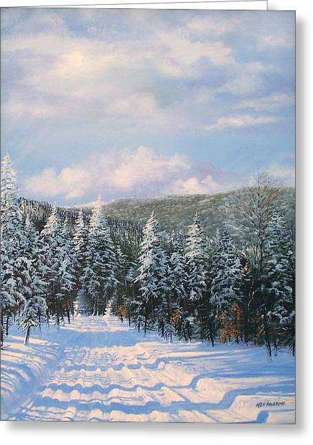 Closed In Winter Greeting Card