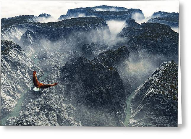 Jim Coe Greeting Cards - Cloud Canyon Greeting Card by Jim Coe