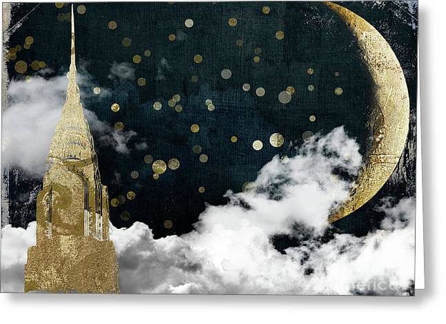 Cloud Cities New York Greeting Card by Mindy Sommers