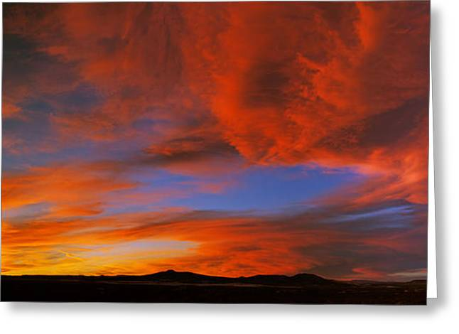 Clouds In The Sky At Sunset, Taos, Taos Greeting Card by Panoramic Images