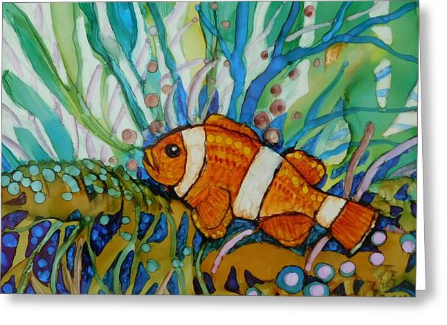 Clown Fish Greeting Card by Joan Clear