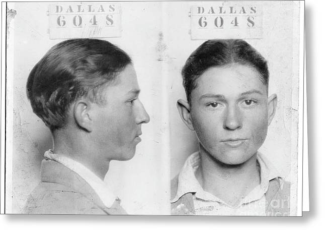 Clyde Barrow Mugshot Greeting Card