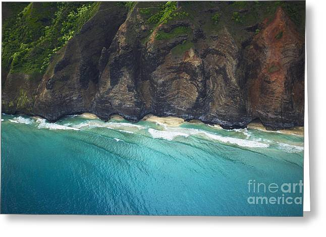 Coastal Kauai Aerial Greeting Card