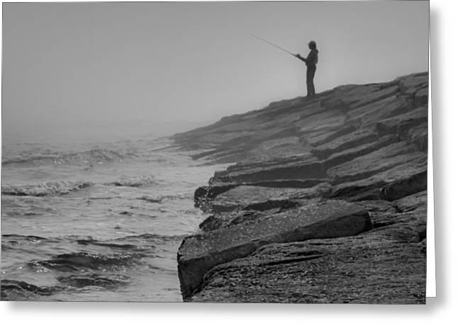 Coastal Solitude Greeting Card by James Woody