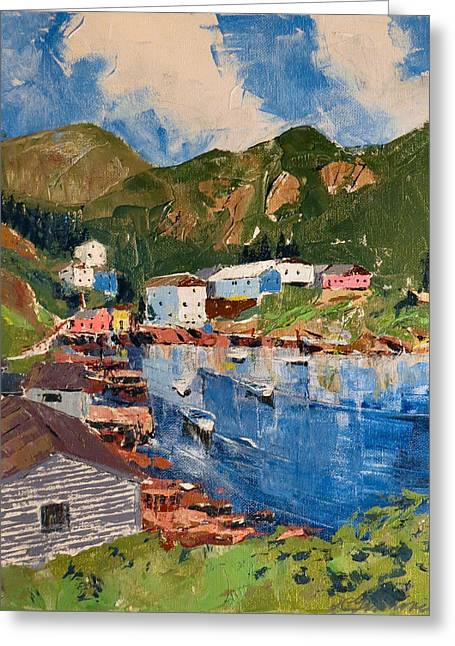 Coastal Village, Newfoundland Greeting Card