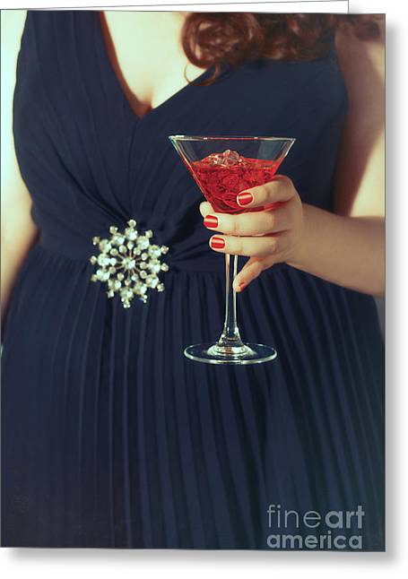 Cocktail Hour Greeting Card by Amanda Elwell