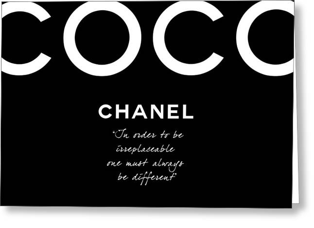 Coco Chanel Irreplaceable Quote Greeting Card