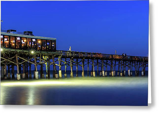 Cocoa Beach Pier At Twilight Greeting Card