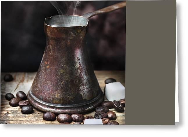 Coffee Greeting Card by Jelena Jovanovic