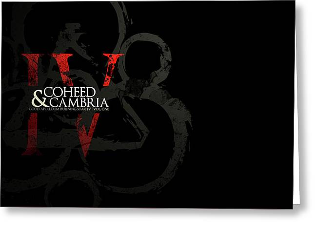 Coheed And Cambria                    Greeting Card by F S