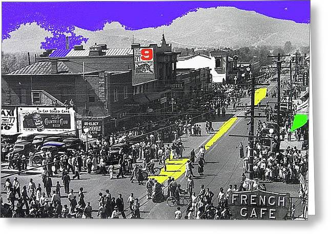 Cole Brothers Parade Aftermath West Congress George Chambers Photo Tucson Arizona October 1936-2008 Greeting Card by David Lee Guss
