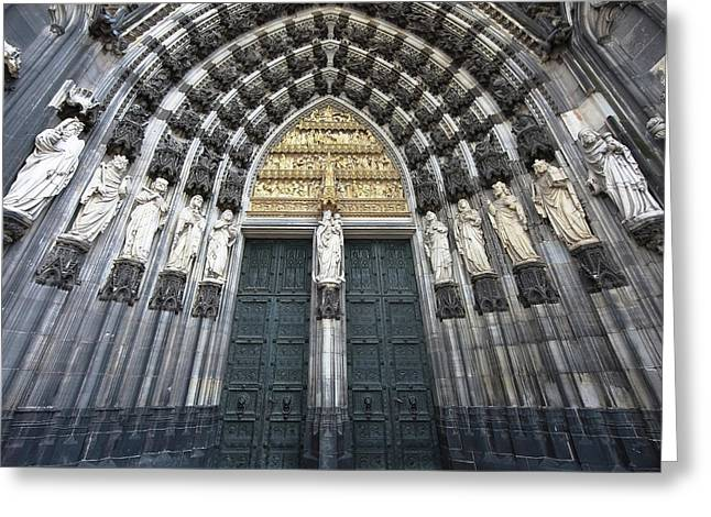 Cologne Germany  The Cathedral Greeting Card by Nicole Riley