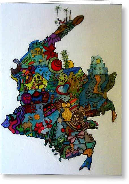 Colombia Greeting Card by MikAn 'sArt