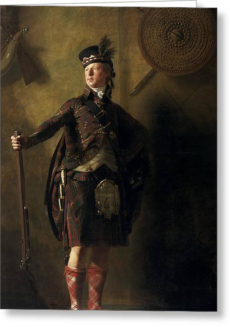 Colonel Alastair Ranaldson Macdonell Of Glengarry  Greeting Card by Henry Raeburn