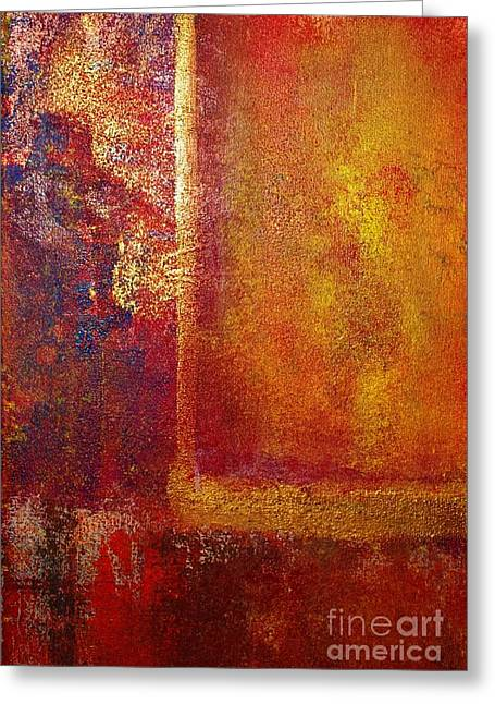 Color Fields Red And Gold Greeting Card