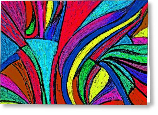Color Flow Greeting Card by Cassandra Donnelly
