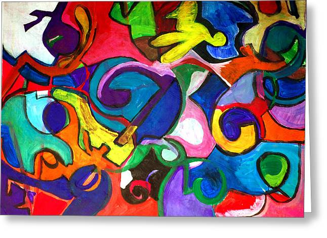 Color Shape Study Greeting Card by Jame Hayes