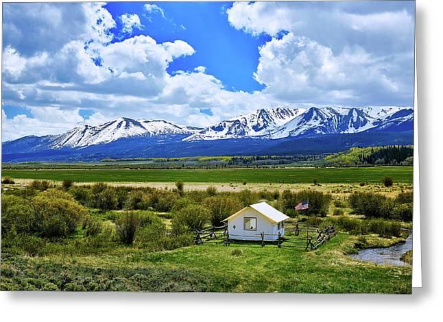 Colorado Mountain Vista Greeting Card by L O C