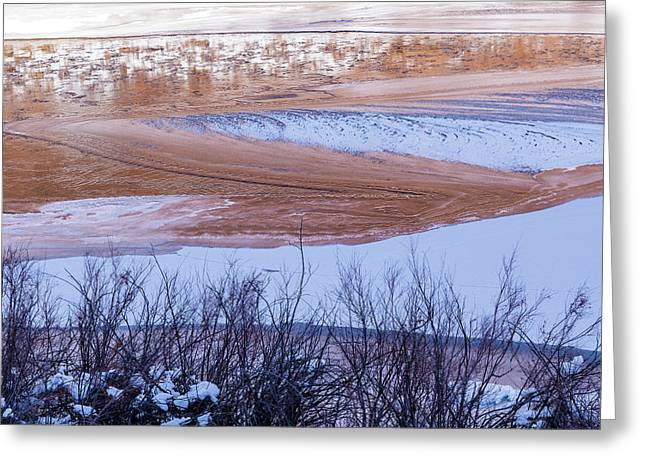 Greeting Card featuring the photograph Colorado River In Winter by Deborah Hughes