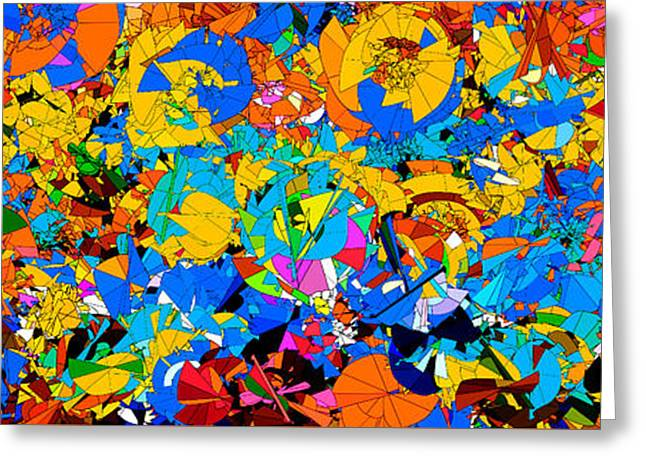 Colorful Abstract Mural Greeting Card by Bruce Nutting