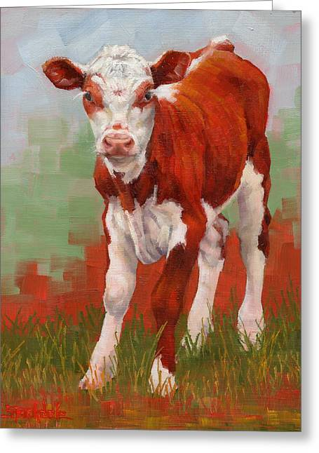 Colorful Calf Greeting Card