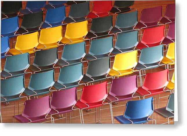 Colorful Chairs Greeting Card