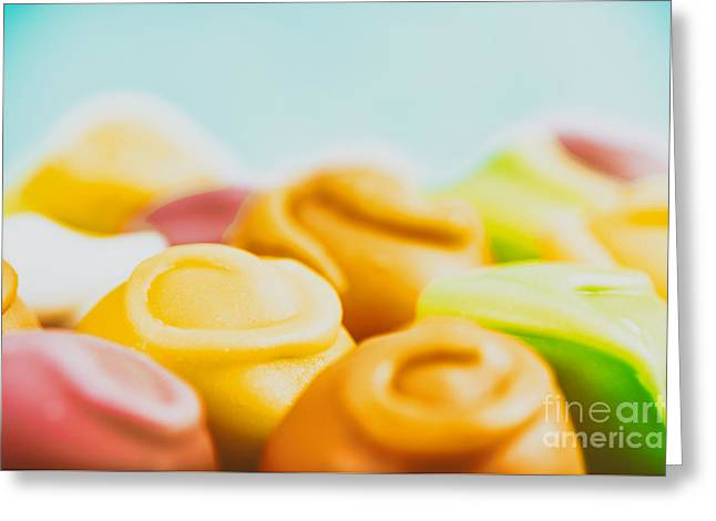 Colorful Fondant Candies Greeting Card by Radu Bercan