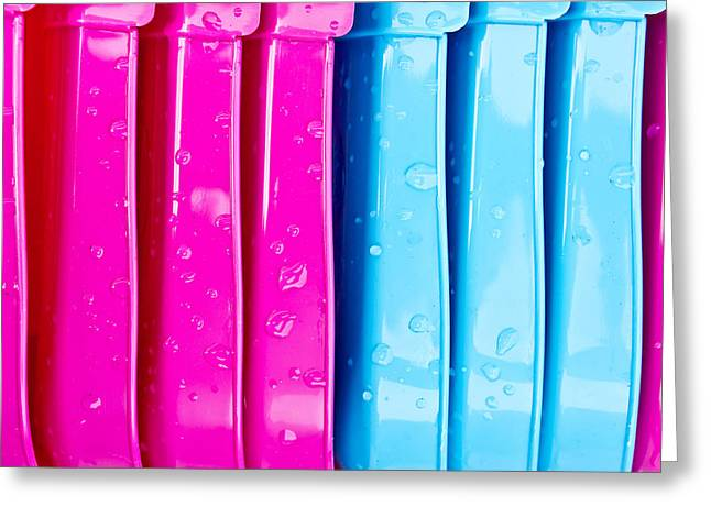 Colorful Plastic Greeting Card by Tom Gowanlock
