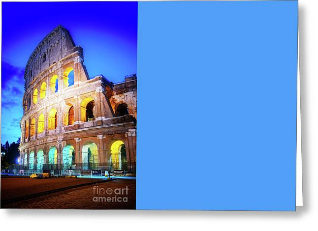 Famous Colosseum In Rome Greeting Card