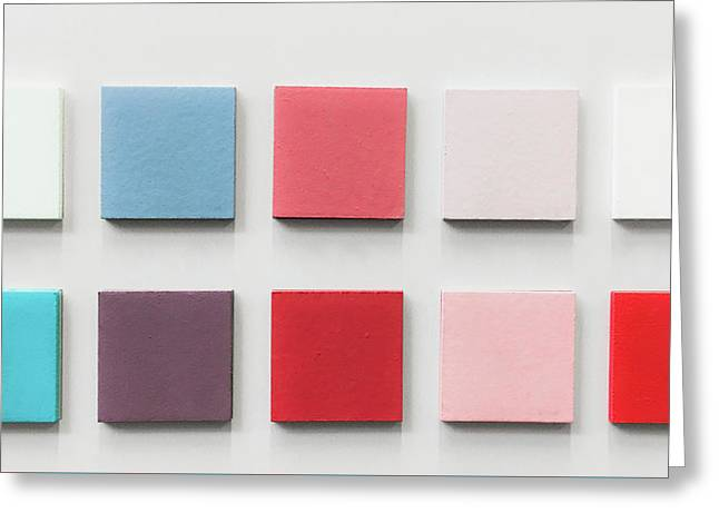 Colour Swatches Greeting Card by Tom Gowanlock