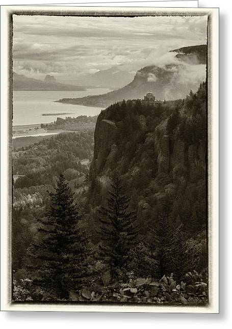 Greeting Card featuring the photograph Columbia River Gorge by Angie Vogel