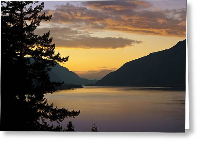 Columbia River Sunset Greeting Card