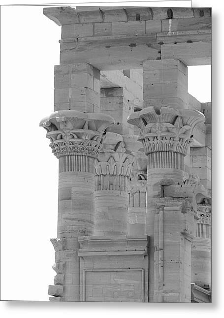 Columns Greeting Card by Silvia Bruno
