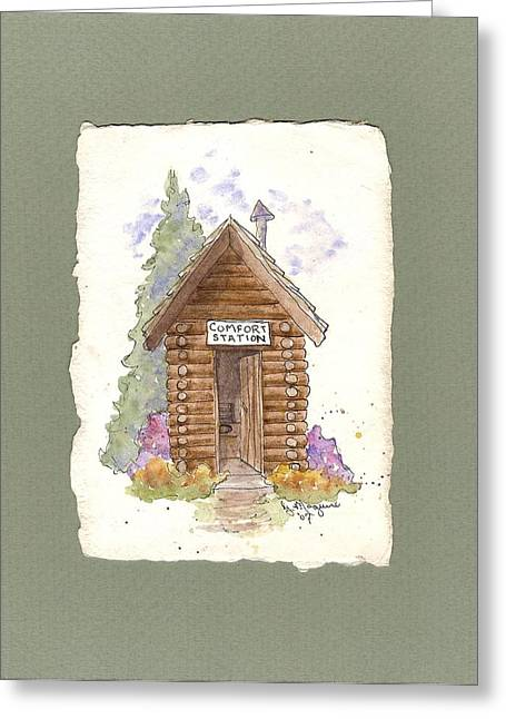 Comfort Station Greeting Card by Gail Maguire