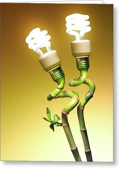 Conceptual Lamps Greeting Card
