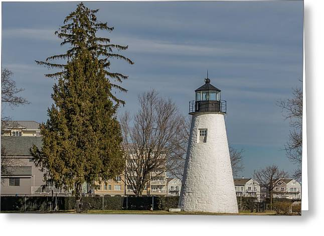 Concord Point Light Greeting Card by Capt Gerry Hare