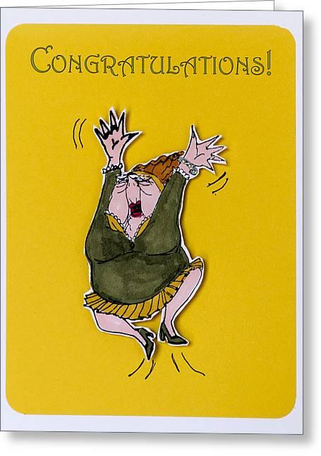 Congratulations Greeting Card by Jon Berghoff