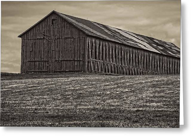 Connecticut Tobacco Barn Greeting Card