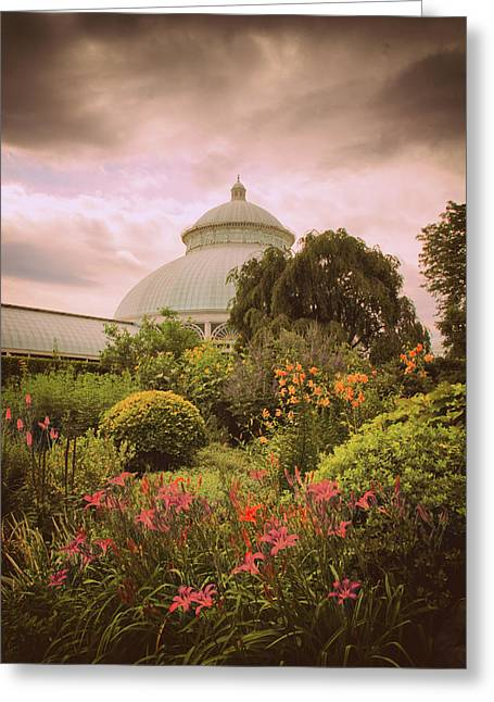 Conservatory Garden Greeting Card by Jessica Jenney