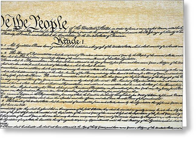 Constitution Greeting Card by Granger