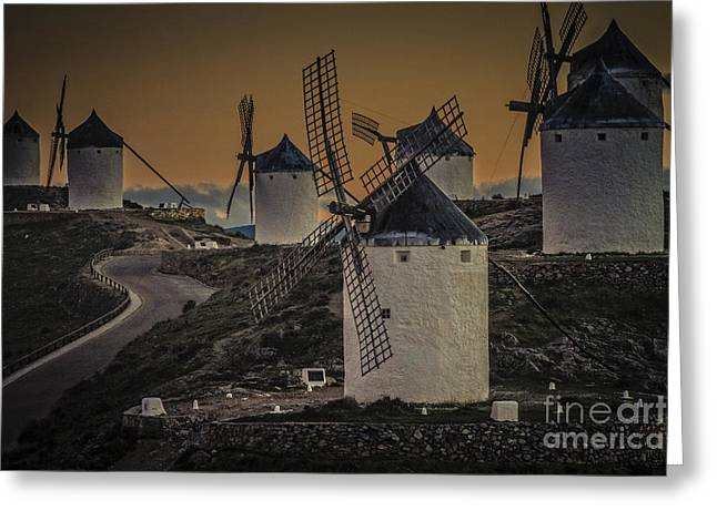 Consuegra Windmills 2 Greeting Card
