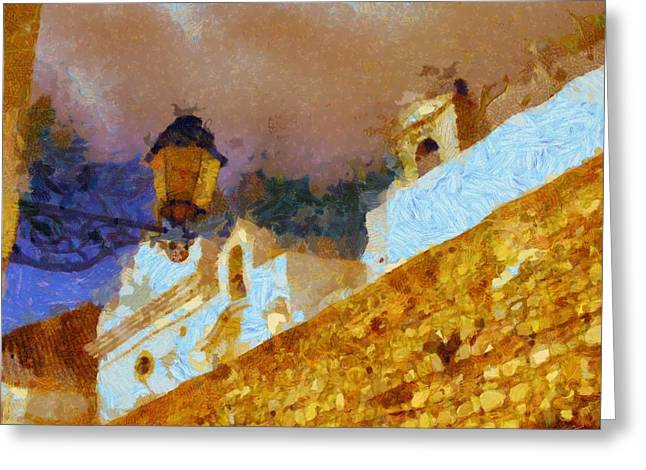 Continental Journey Greeting Card by Pierre Blanchard