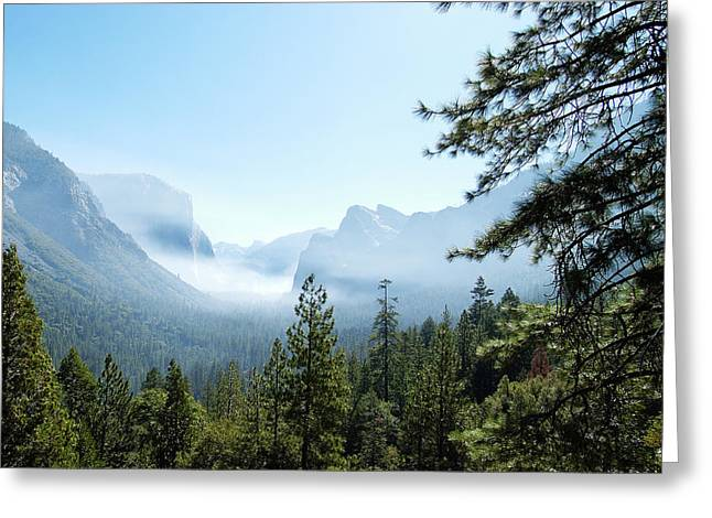 Controlled Burn Of Yosemite Greeting Card