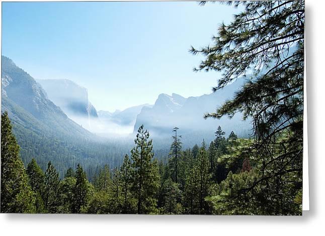 Controlled Burn Of Yosemite Greeting Card