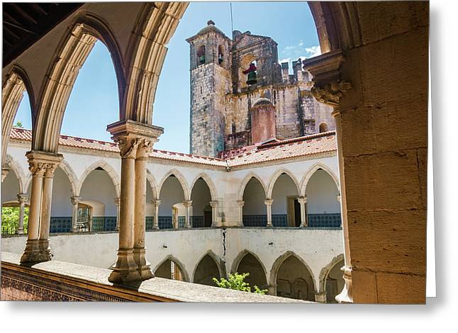 Convent Of Christ In Tomar Greeting Card