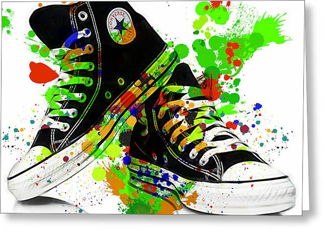 Converse All Stars Greeting Card by Marvin Blaine