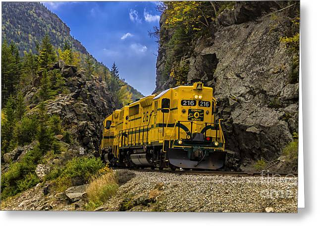 Conway Scenic Railroad Notch Train. Greeting Card
